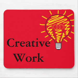 Mousepad Creative Work with bulb red