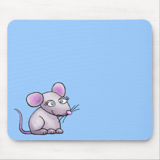 Mousepad, Cute Mouse Cartoon Illustration Mouse Pad
