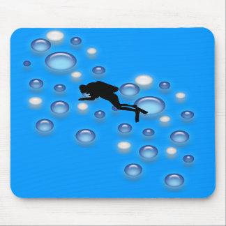 Mousepad - Diver with bubbles