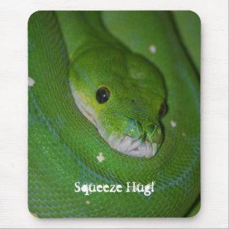 Mousepad Exotic Coiled Green Snake Sqeeze Hug Card