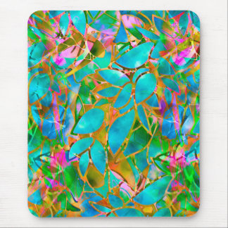 Mousepad Floral Abstract Stained Glass