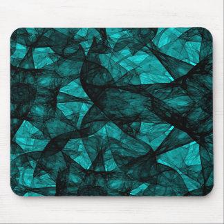 Mousepad fractal art black and green