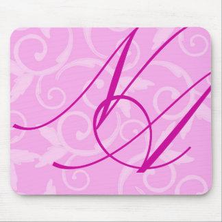 Mousepad - Girly Swirl Monogram