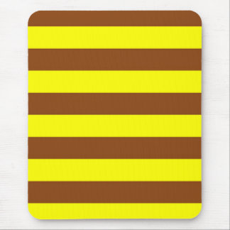 Mousepad - Goldenrod & Yellow - Broad Stripes