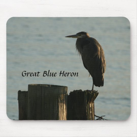 Mousepad:  Great Blue Heron Mouse Mat