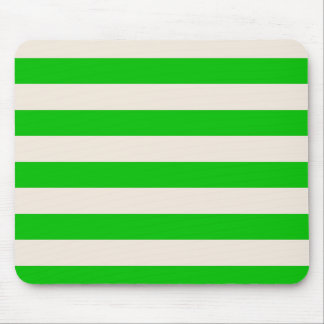 Mousepad  Green & Buttermilk Cream - Broad Stripes