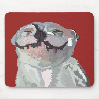 "Mousepad: Happy Bulldog - ""I got away with it!"" Mouse Pad"