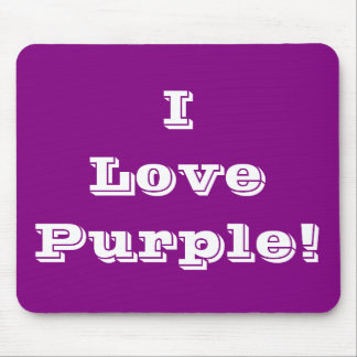 Mousepad I Love Purple