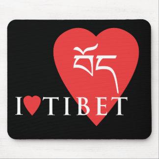 Mousepad I Love Tibet
