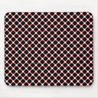 Mousepad in black, red and white