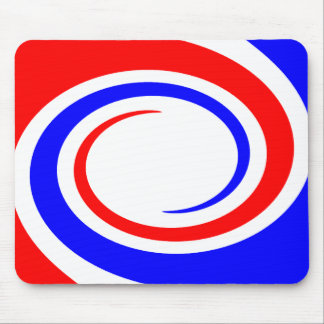 Mousepad in Red-White-Blue circle's