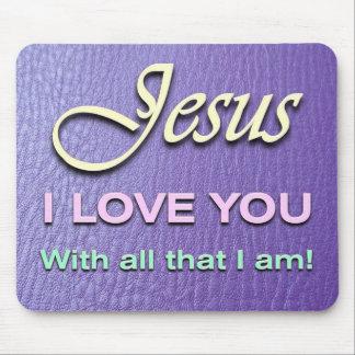 Mousepad - Jesus I Love You - Purple