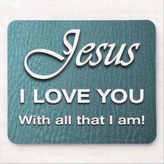 Mousepad - Jesus I Love You - Turquoise
