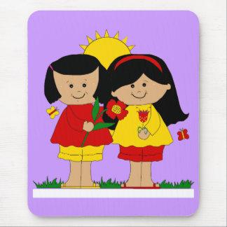 Mousepad Kid's Two Best Friends Girls