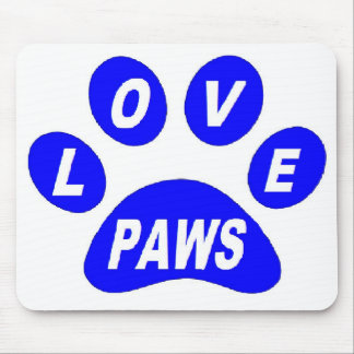 Mousepad Love Paws on Paws Blue