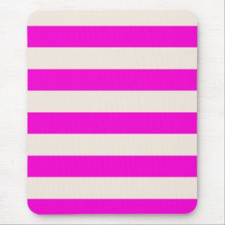 Mousepad - Magenta & Buttermilk Cream - Stripes