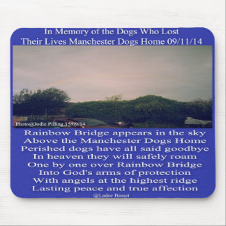 Mousepad Manchester Rainbow Poem Dogs