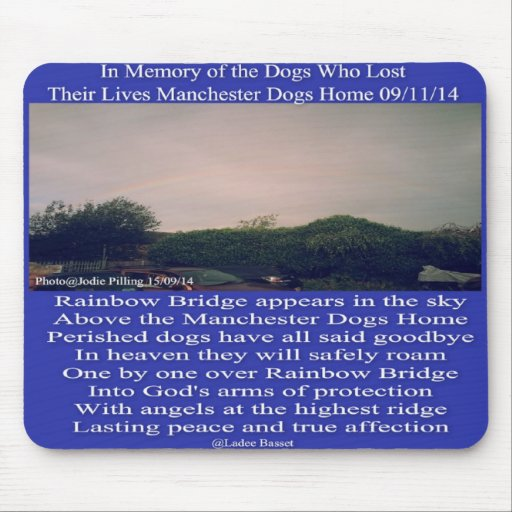 Mousepad Manchester Rainbow Poem Dogs