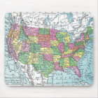 Mousepad:  Map of United States, 1921 Mouse Mat
