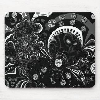 Mousepad Modern Art Black White 2