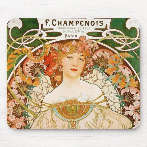 Mousepad: Mucha - Champenois