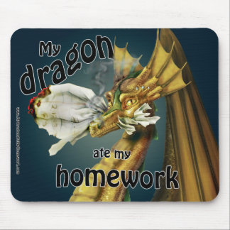 Mousepad - My Dragon Ate My Homework