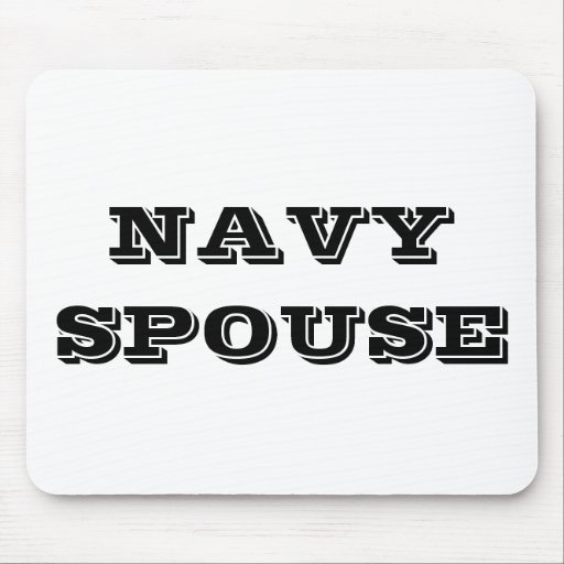 Mousepad Navy Spouse