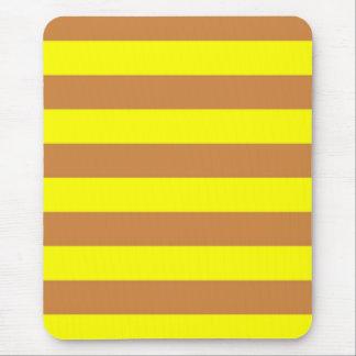 Mousepad - Peru Brown & Yellow - Broad Stripes