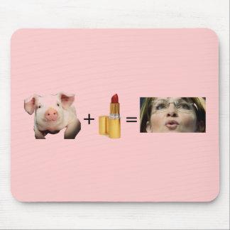 Mousepad / Pig + Lip Stick = Sara Palin