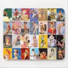 Mousepad Pin up Girls Art Vintage Retro Collage