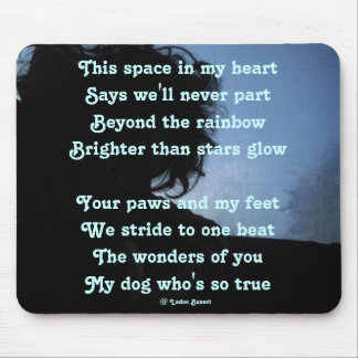 Mousepad Poem Dde To Dogs By Ladee Basset
