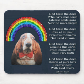 Mousepad Poem God Bless The Dogs