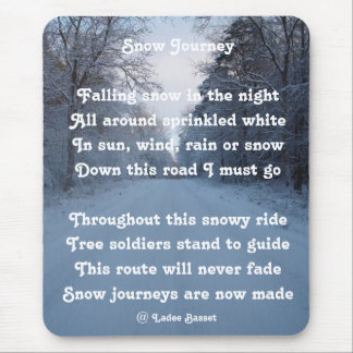 Mousepad Poem Snow Journey By Ladee Basset