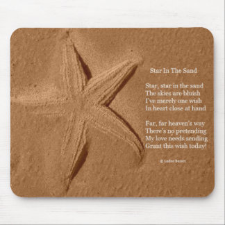 Mousepad Poem Star In The Sand By Ladee Basset