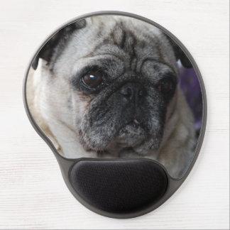 MOUSEPAD pug Pug Carlin - by Jean Louis Glineur Gel Mouse Mat