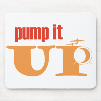 mousepad Pump it UP (with symbals and bassdrum)