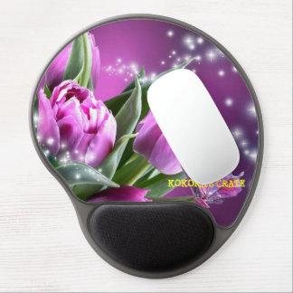 Mousepad (PURPLE BUTTERFLY FLOWERS) Gel Mouse Pad