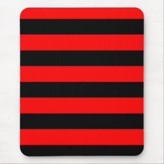 Mousepad - Red and Black - Broad Stripes