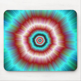 Mousepad   Red and Blue Exploding Doughnut