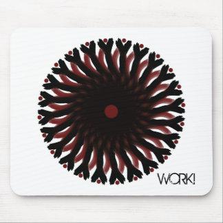 Mousepad RED/BLACK CIRCLE SUN