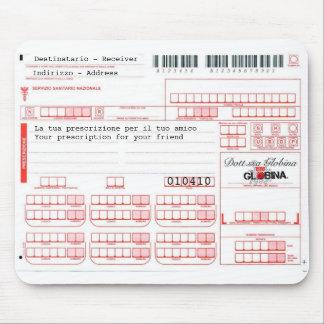 Mousepad ricetta medica - Italian Prescription