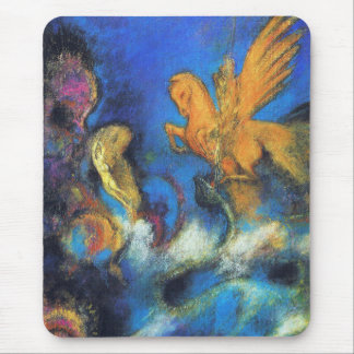 Mousepad: Roger & Angelica 2 by Odilon Redon