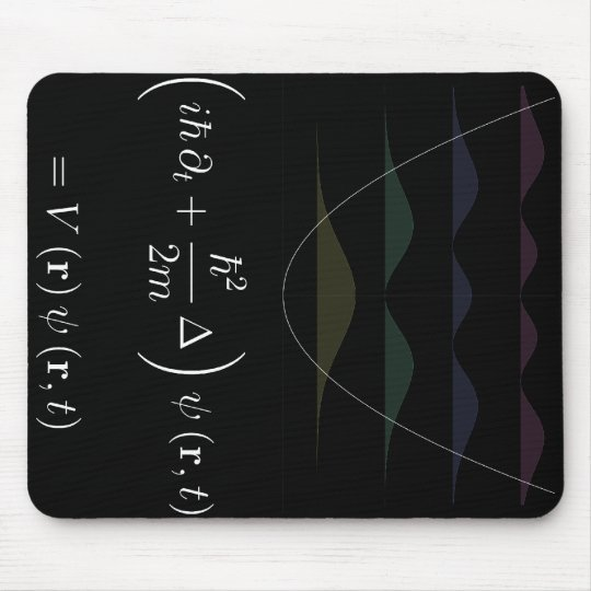 mousepad, Schrodinger equation, harmonic potential Mouse Mat