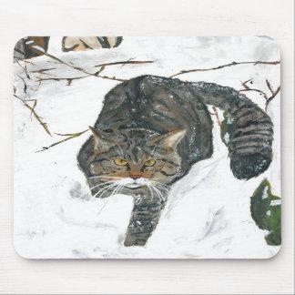 mousepad - Scottish wildcat painting