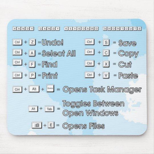 Mousepad_Shortcuts Mouse Pad