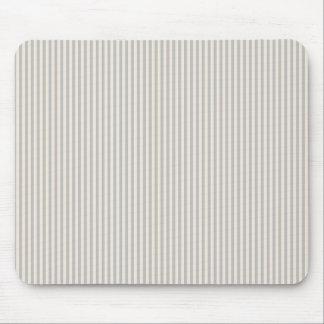 Mousepad - Silver & Buttermilk Cream stripes