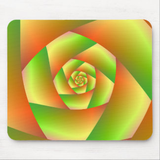 Mousepad  Spiral in Yellow Orange and Green
