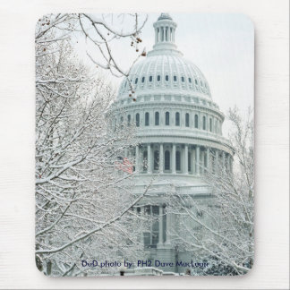 Mousepad United States Capitol in Snow