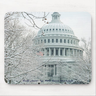 Mousepad / United States Capitol in Snow