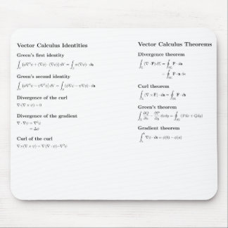 Mousepad: vector calculus mouse mat